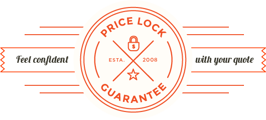 Feel confident with your quote price lock guarantee icon offered by packing and moving service EverSafe Moving Co. in Philadelphia, PA