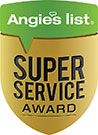 Angie's list Super Service Award icon given to packing and moving service EverSafe Moving Co. in Philadelphia, PA